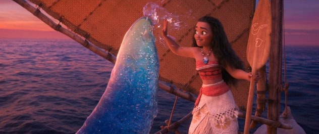 Moana is a movie for kids where the ocean is a character.