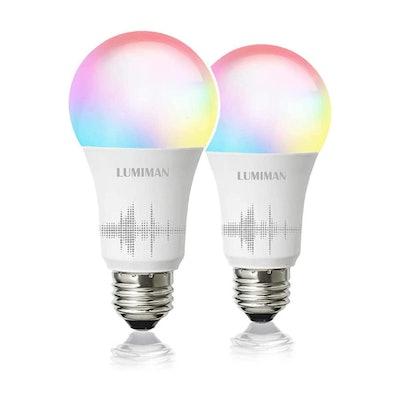 LUMIMAN Smart WiFi Light Bulb (2- Pack)