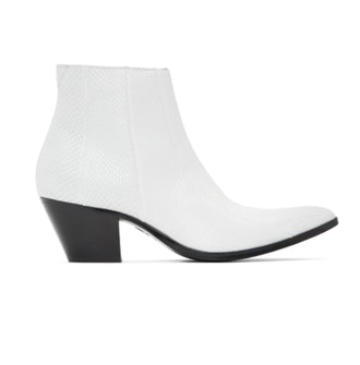 Pyer Moss White Faux-Python Boots