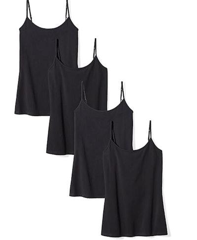 Amazon Essentials Slim-Fit Camisoles, 4-Pack