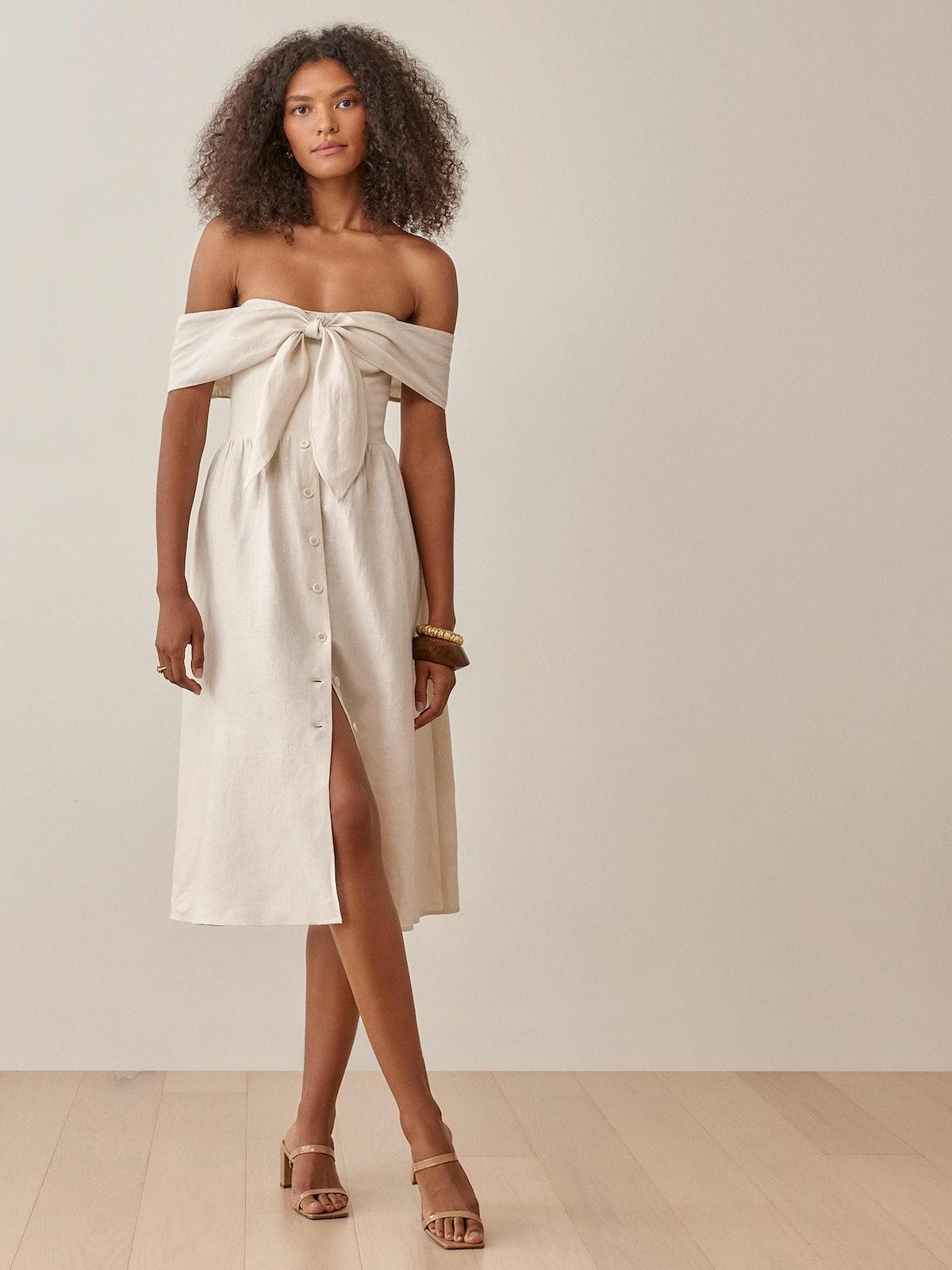 Barrington Linen Dress in Cream