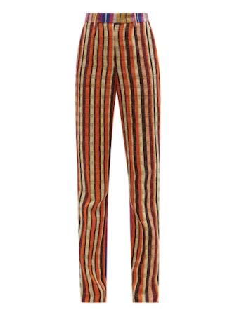 Kenneth Ize High-Rise Aso-Oke Trousers