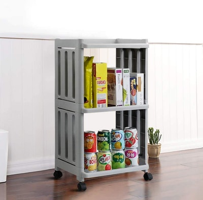 Vcansay 3 Tiers Rolling Storage Trolley