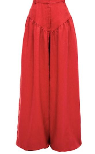 Fe Noel Red Rasta Linen Pant