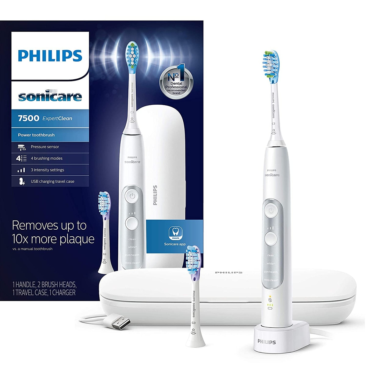 Philips Sonicare ExpertClean 7500 Bluetooth Electric Toothbrush