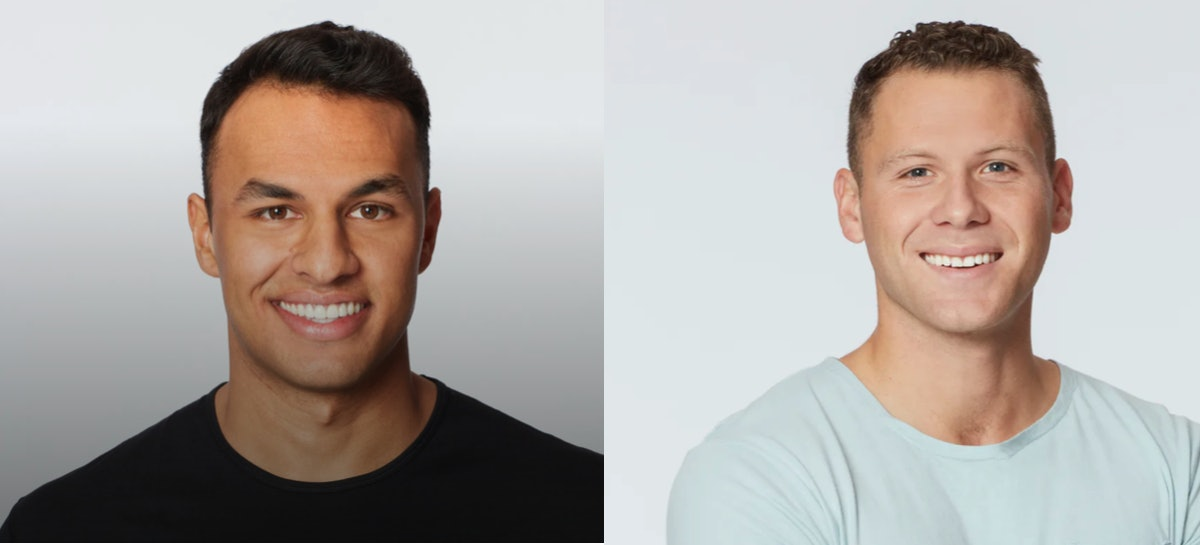Aaron Clancy and Cody Menk on Season 17 of 'The Bachelorette'