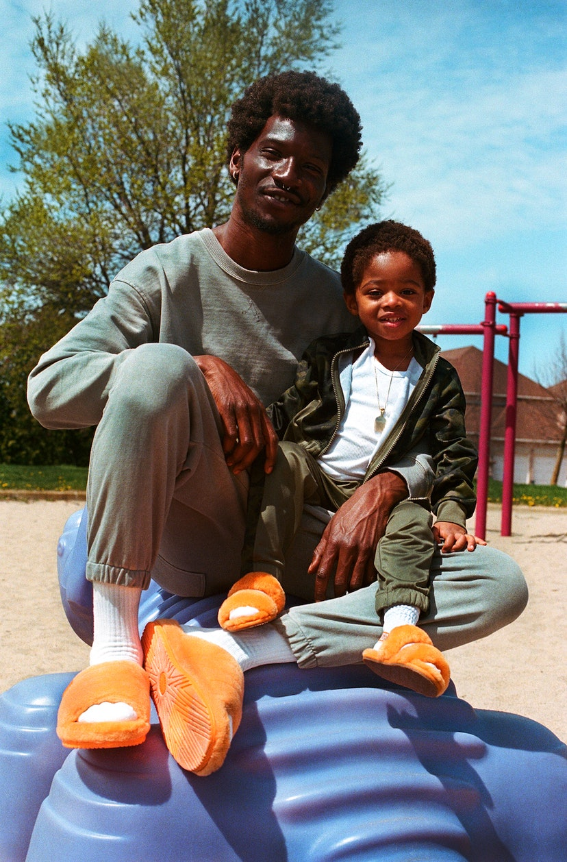 Adonis Bosso appears in a Father's Day UGG campaign with son.
