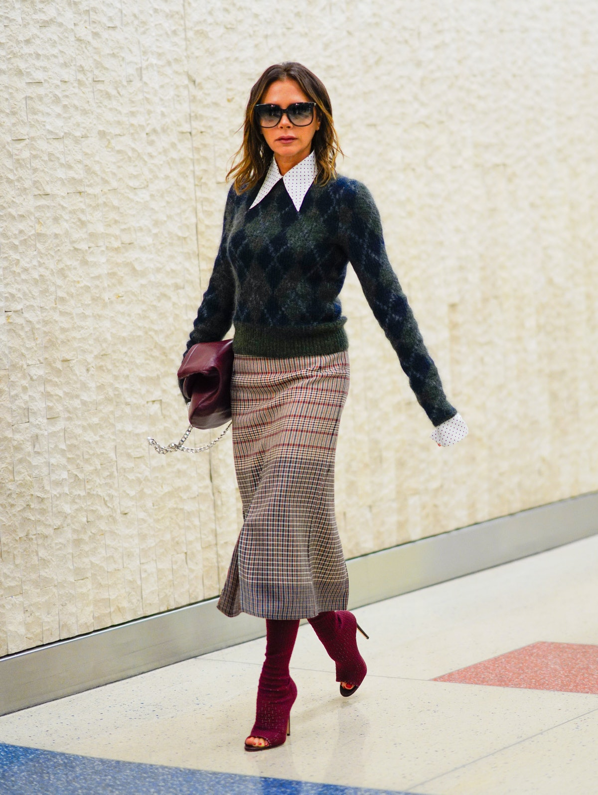 Victoria Beckham showing off her style