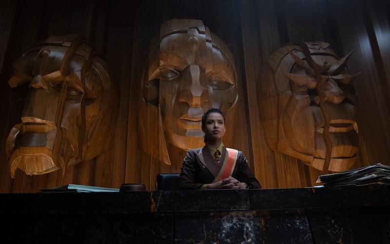 Gugu Mbatha-Raw plays Judge Ravonna Renslayer on 'Loki.' Photo via Marvel Studios