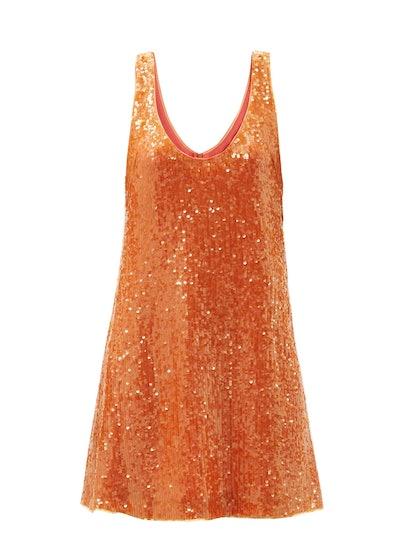 Galvan Delirium Sequinned-Crepe Mini Dress