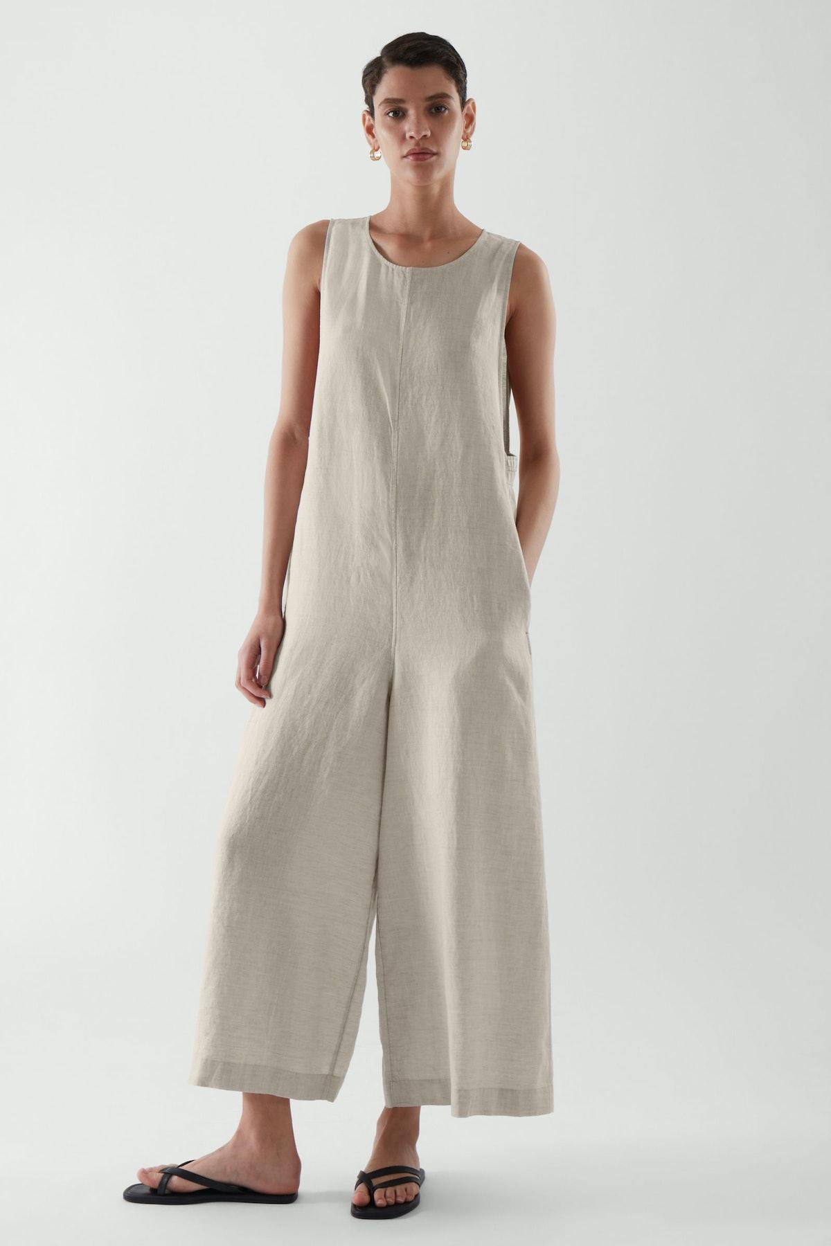 Sleeveless Linen Jumpsuit