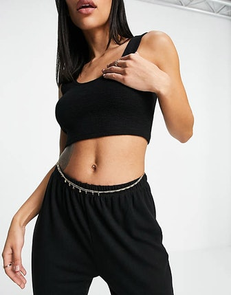 Layered Belly Chain With Disc Charms