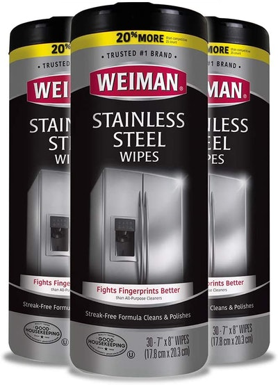 Weiman Stainless Steel Cleaner Wipes (3-Pack)