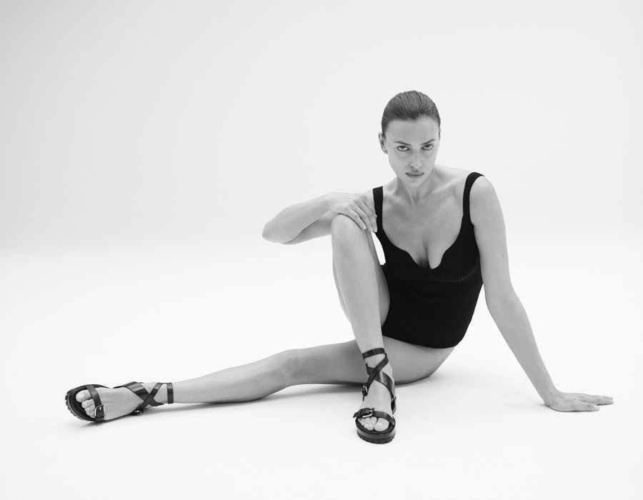 Irina Shayk partners with Tamara Mellon for a shoe collaboration.