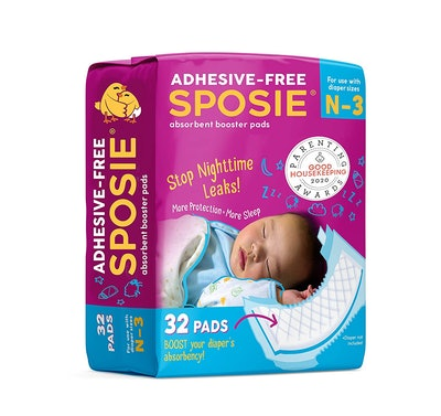 Sposie Overnight Baby Diaper Booster Pads/Doublers for Newborns to Size 3 Diapers