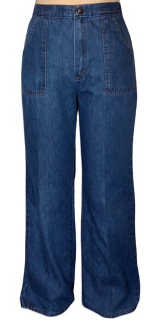70's High Rise Wide Leg Jeans