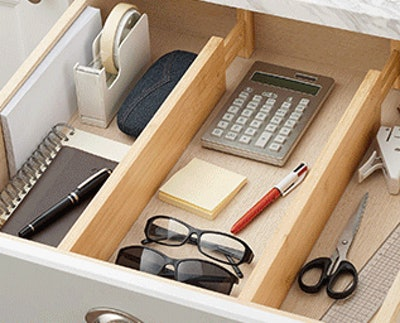 FILWH Bamboo Drawer Dividers (4-Pack)