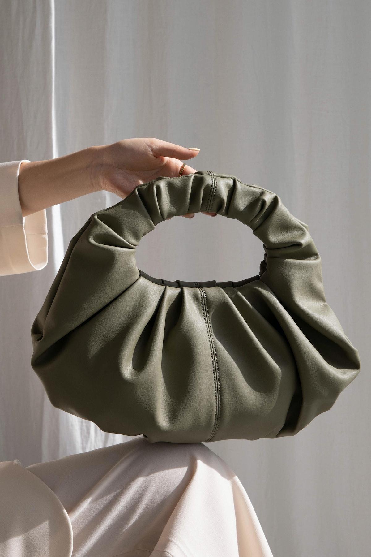 Ruched Handbag