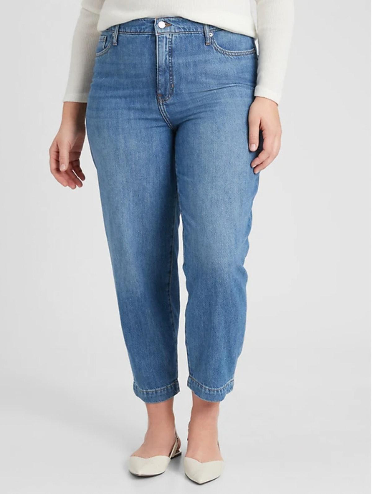 Medium Wash Barrel Jeans