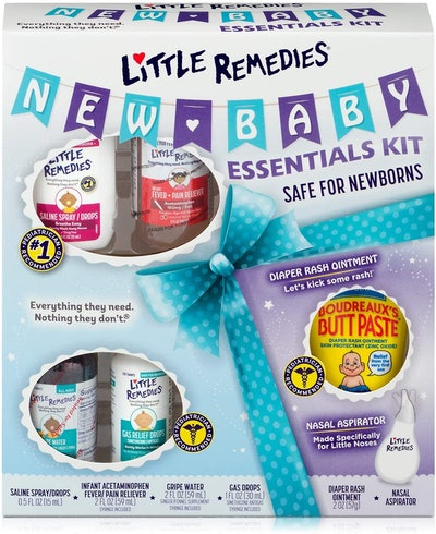Little Remedies New Baby Essentials Kit, 6 Piece Kit for Baby's Nose & Tummy