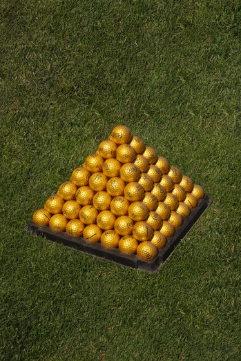 Extra Butter x Vice Golf Happy Gilmore gold golf balls