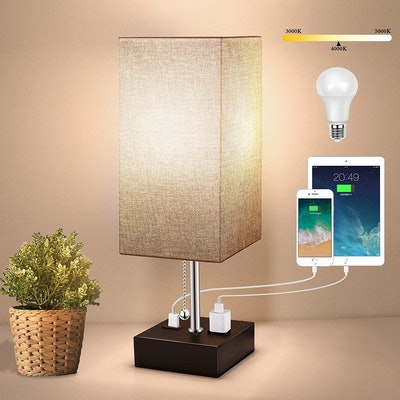 Withu Table Lamp with USB Port and Outlet