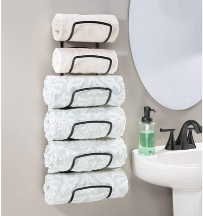 mDesign Wall-Mounted Towel Holder