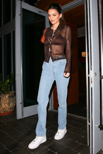 Kendall Jenner heading out for the night in Miami in 2020.