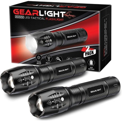 GearLight LED Tactical Flashlight (2 Pack)