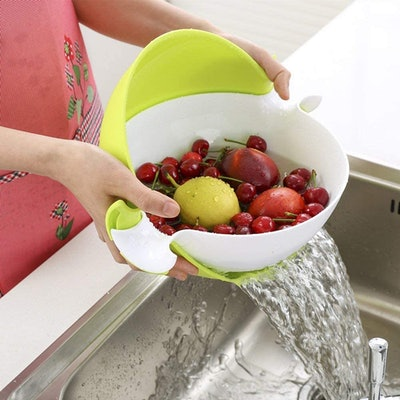 CHICHIC 2-in-1 Strainer and Bowl Set