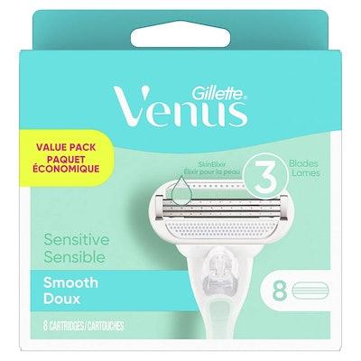 Gillette Venus Smooth Sensitive Razor Blade Refills (8 Count)