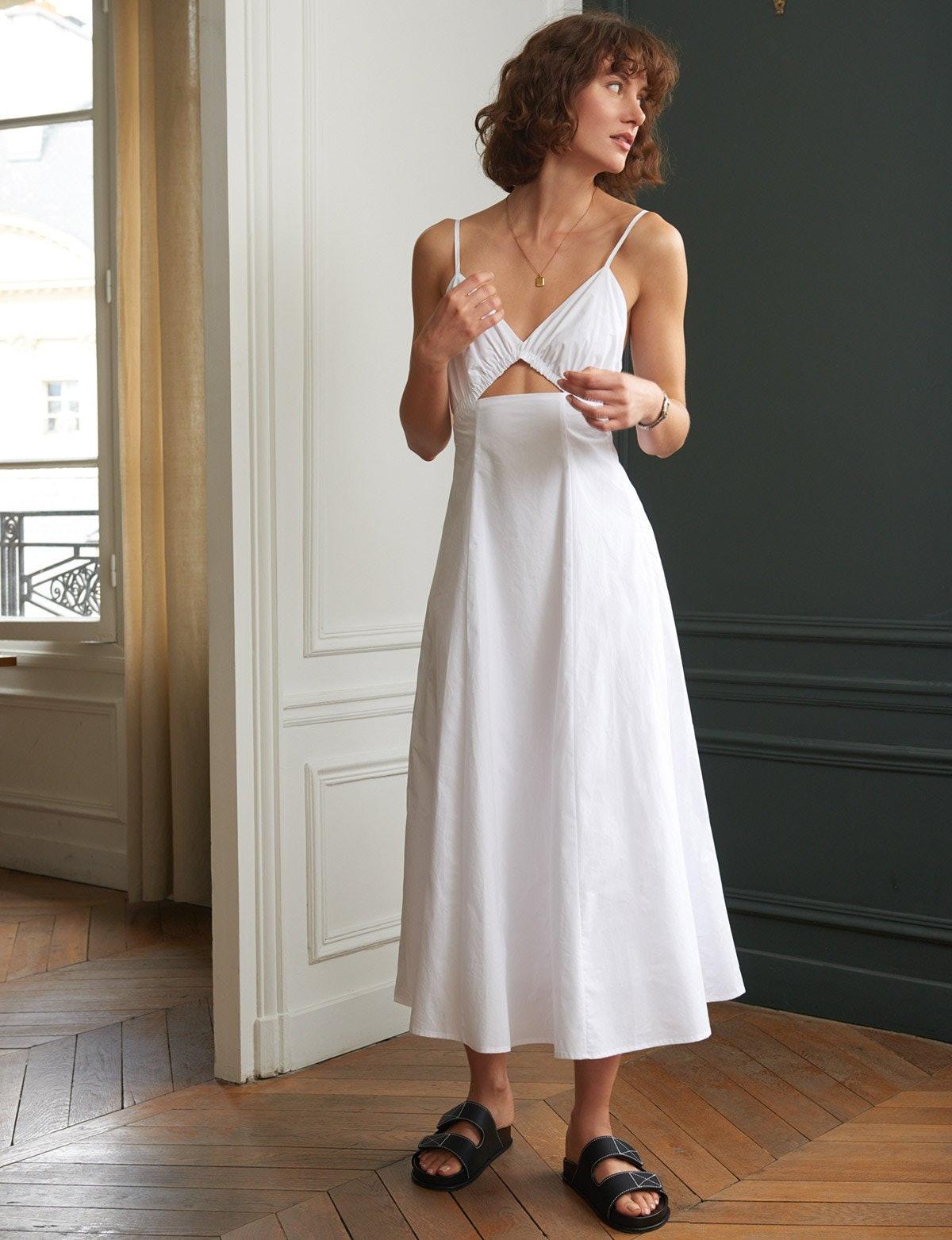 Santorini White Cut Out Dress