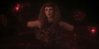 Elizabeth Olsen as Wanda Maximoff in the WandaVision finale