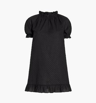 The Katherine Nap Dress in Sheer Black Swiss Dot