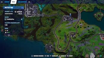 fortnite graffiti location 1 map