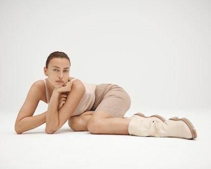 Irina Shayk x Tamara Mellon capsule shoe collection.