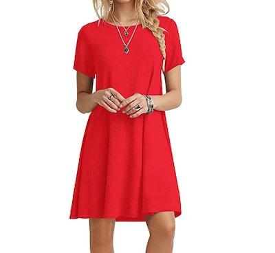 POPYOUNG Casual Tshirt Dress