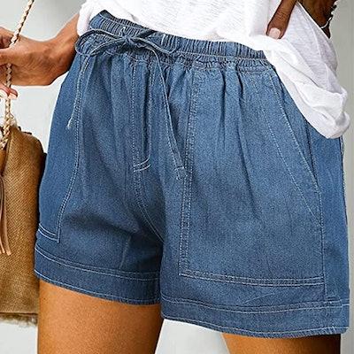 ONLYSHE Casual Drawstring Shorts