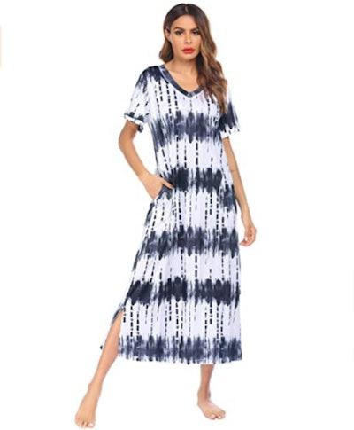 Ekouaer Loungewear Long Nightgown