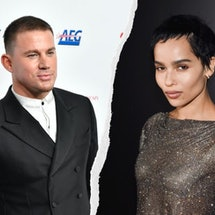 Channing Tatum to star in Zoë Kravitz's directorial debut 'Pussy Island.' Photos via Frazer Harrison/Getty Images Entertainment/Getty Images & Stephane Cardinale - Corbis/Corbis Entertainment/Getty Images