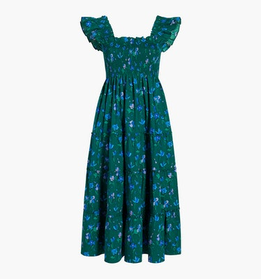 The Ellie Nap Dress in Emerald Space Floral