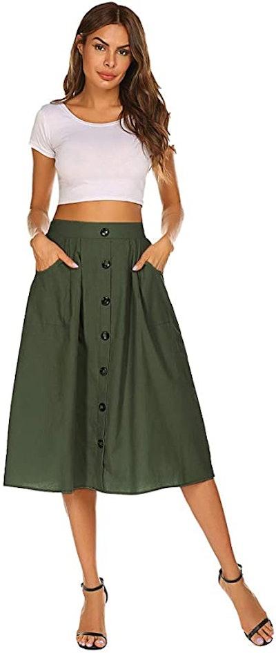 Naggoo Midi Skirt with Pockets