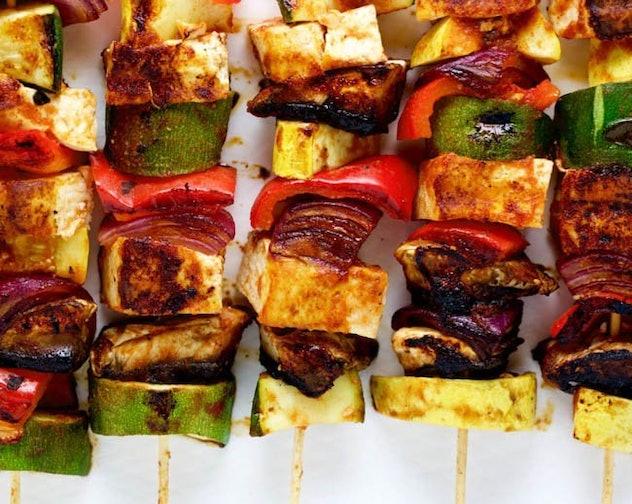 summer BBQ tofu kebabs