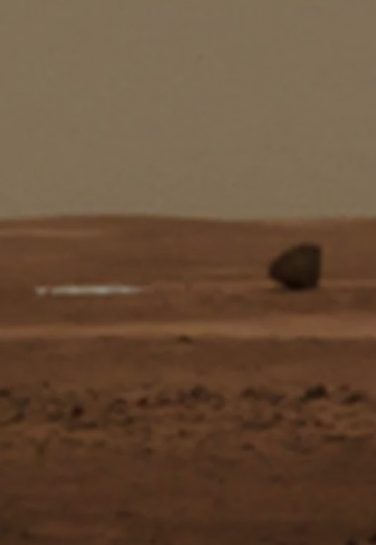 zhurong landing shell and parachute on Mars
