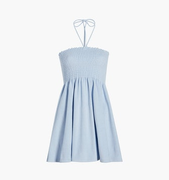 The Roxie Nap Dress in Light Blue Terry
