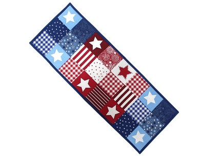 """Celebrate Americana Together Patchwork Table Runner - 36"""""""