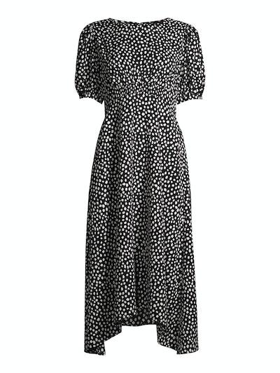 Smocked Waist Midi Dress