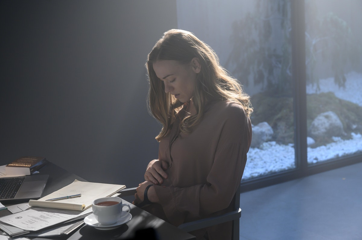 Yvonne Strahovski as Serena Joy Waterford at the end of The Handmaid's Tale Season 4