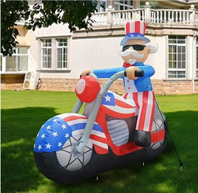 GOOSH 6 ft Tall Patriotic Independence Day Inflatable Uncle Sam