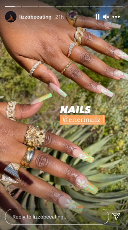 Lizzo has gotten in on the daisy nail trend, too. She recently showed off the delicate floral design...